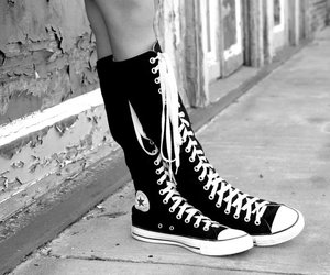 alley, boots, and converse image