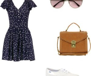 bags, dress, and glasses image