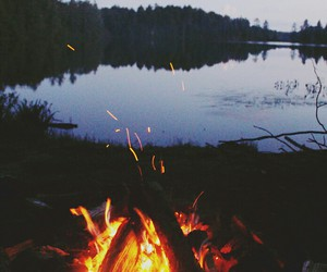 fire, hipster, and nature image