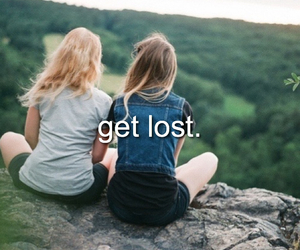 cool, get lost, and girls image