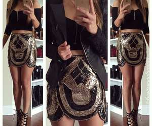 clothes, glamour, and gold image