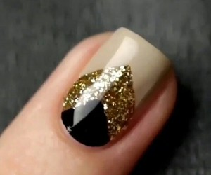 black, geometric, and manicure image