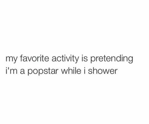 funny, popstar, and shower image