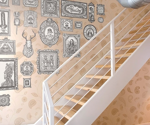 decal, stairway, and frames image