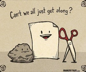 Paper, funny, and rock image