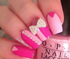 accesories, bow, and nailart image