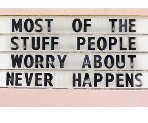 quotes, worry, and pink image