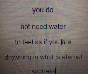 drowning, heartbreak, and poem image