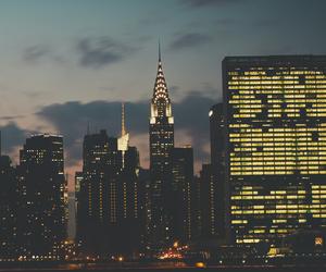 city, light, and beautiful image