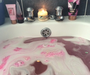 bath, lush, and relax image