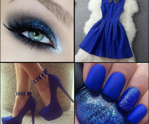 blue, nails, and shoes image