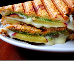 sandwich, cheese, and food image