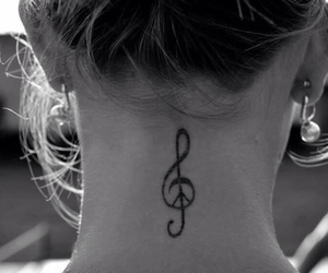 tattoo, music, and peace image