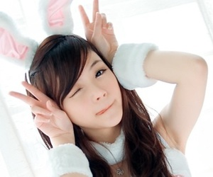 asian, bunny, and girl image