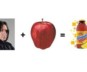 harry potter, snape, and apple image