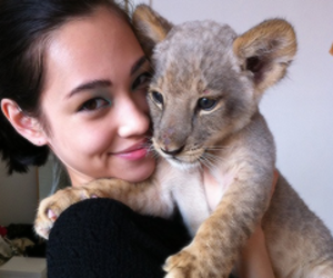 cute, girl, and lion image