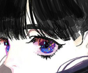anime, eyes, and anime girl image