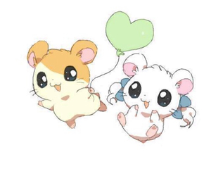 childhood, hamtaro, and cute image