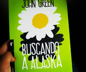 books, green, and looking for alaska image