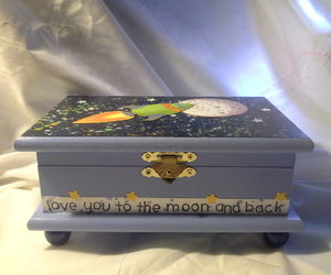 boy, space, and wood box image