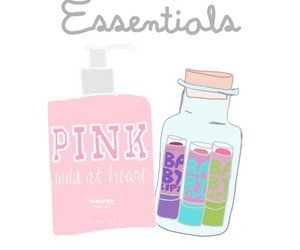 pink, transparent, and essentials image