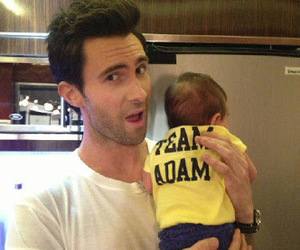 adam levine, baby, and adam image