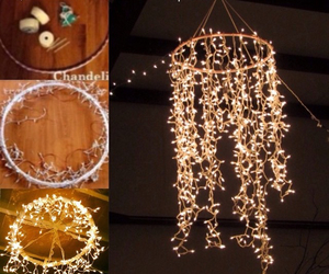 diy, light, and decoration image