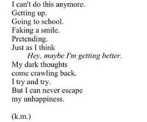 sad, depressed, and quote image