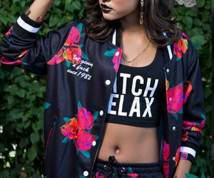 dope, fashion, and flowers image