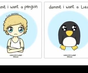 penguin, luke hemmings, and 5sos image