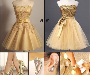 dresses, earrings, and homecoming image