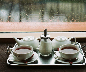 tea, rain, and rainy day image