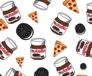 nutella, oreo, and pizza image