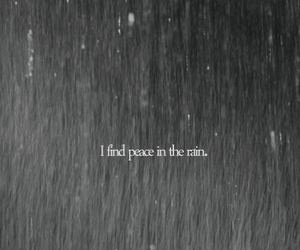 rain, peace, and quotes image