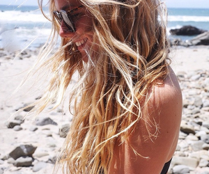 beach, hair, and pretty image