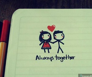 couple, heart, and always together image