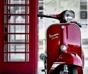 red and Vespa image