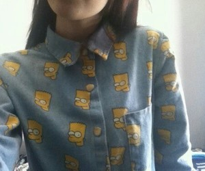 bart, simpsons, and shirt image