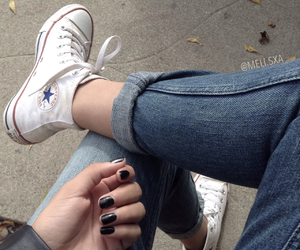 girl, converse, and tumblr image
