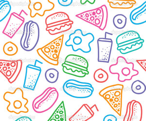 food and pattern image