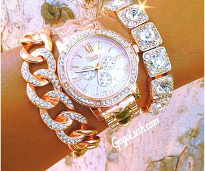 watch, bracelet, and girly image