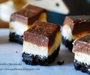 cake, cheesecake, and nutella image