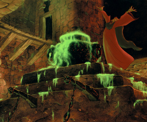 cauldron, disney, and smoke image