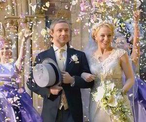 Martin Freeman, sherlock, and wedding image