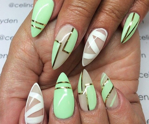 mint green, cute, and nails image