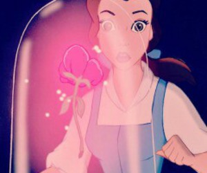 belle, rose, and beautiful image