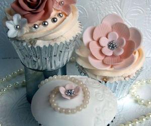 cupcake, flowers, and food image
