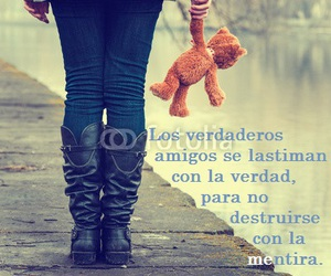amigos, frases, and teddy bear image