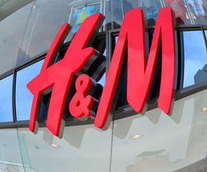H&M, pink, and store image