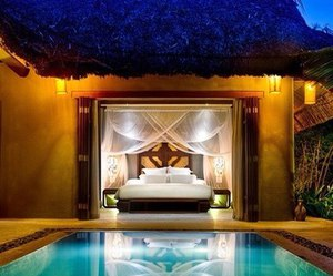 pool, luxury, and bedroom image